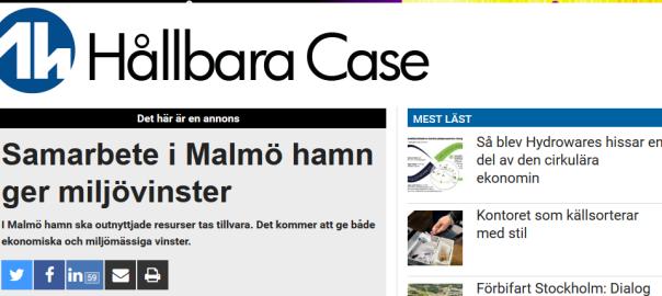 160630_Samarbete_i_Malmö_hamn_ger_miljövinster_-_Aktuell_Hållbarhet_Tema