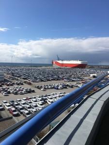 Deltagarna bjöds på en fantastisk utsikt över Malmös hamnområde från CMPs kontor.